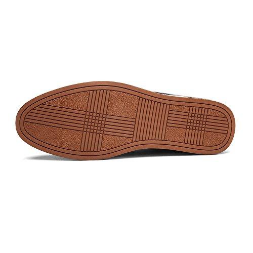 traspirante opaca lavoro Tomaia Nero Color 39 pelle Blu con uomo formali in shoes fodera EU da PU Xiaojuan Dimensione Uomo Scarpe Pelle Scarpe da tHPqwx60