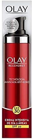 Olay Regenerist Hidratante con SPF30   Crema facial con protección solar, niacinamida y péptidos, 50 ml