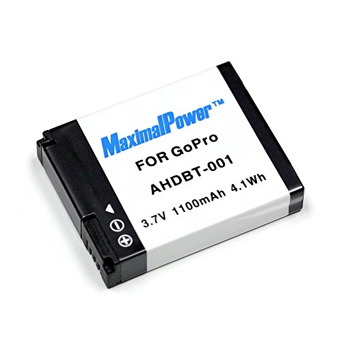 Maximal Power Replacement Battery for GoPro Hero HD HERO - HERO2 Pro Camera - Part# AHDBT-001 - AHDBT001 DB GoPro AHDBT001
