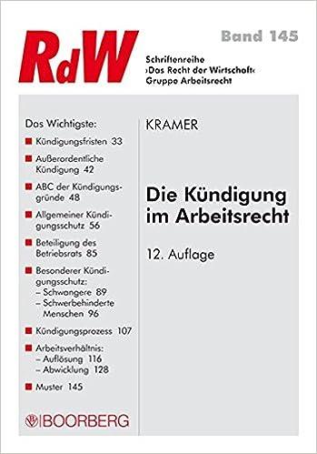 Die Kündigung Im Arbeitsrecht Schriftenreihe Rdw Amazonde Karin