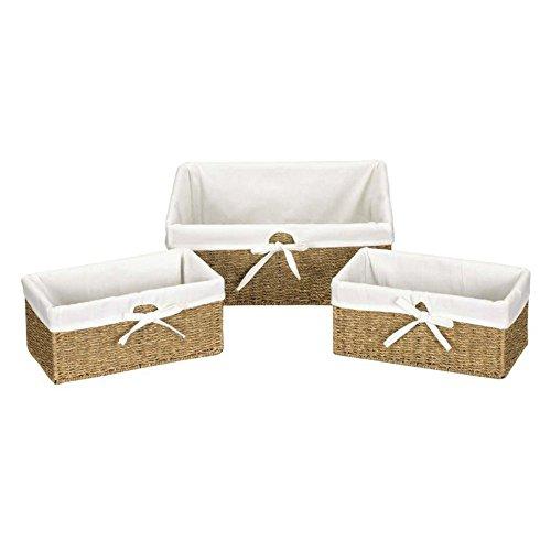 41KSwR4SBML - Household Essentials Seagrass Utility Baskets - Set of 3