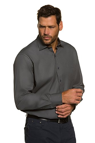 JP 1880 Homme Grandes tailles Chemise anthracite 7XL 706511 11-7XL