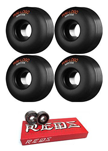 52 mm Miniロゴc-cutスケートボードWheels with Bones Bearings – 8 mmスケートボードベアリングBones Super Redsスケート定格 – 2アイテムのバンドル   B06WP64QSJ