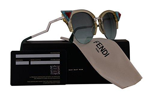 Fendi FF0041/N/S Sunglasses Yellow Green w/Green Aqua Gradient 52mm Lens C1EEQ FF0041S FF 0041S FF - Sunglasses Sale Fendi