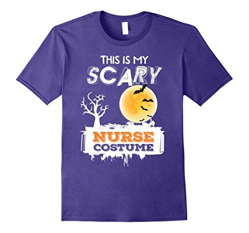 [Mens This is my Scary Nurse Costume Halloween shirt 2017 Medium Purple] (Nurse Halloween Costumes 2017)