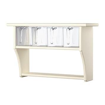 IKEA stenstorp - Mensola da parete con cassetti, Bianco, 60 x 37 ...
