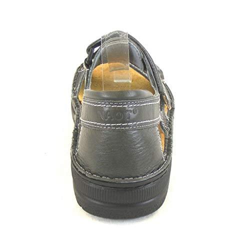 Grau Naot Sandaletten Schuhe Freizeit 13952 Herren Martin Leder Wechselfußbett rXwXW5AqxE