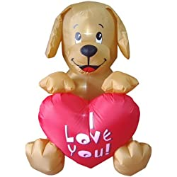 4 Foot Inflatable Puppy, Great for Anniversary, Wedding and Valentine's Day Party Decoration