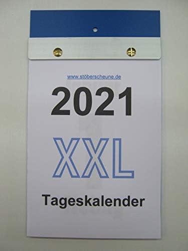 Tageskalender XXL Großdruck DIN A 5 2021 ca 25 x 14,5 cm, Abreisskalender mit grossen Zahlen