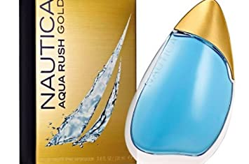Nautica Aqua Rush Gold Eau de Toilette Spray, 3.4 Ounce