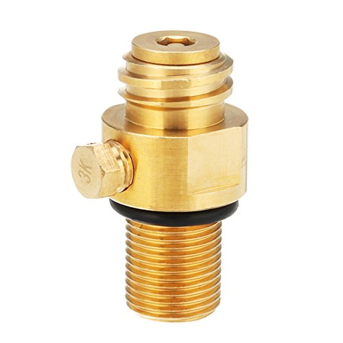 Hvlystory M181.5 Thread Replacement Valve CO2 Tank Brass Pin Valve for Soda - Replacement Pin Valve