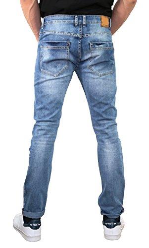 a azul 46 6 Hombre o Slim Black Ace slim denim negro vaqueros Azul pantalones 39 vAYAnq6