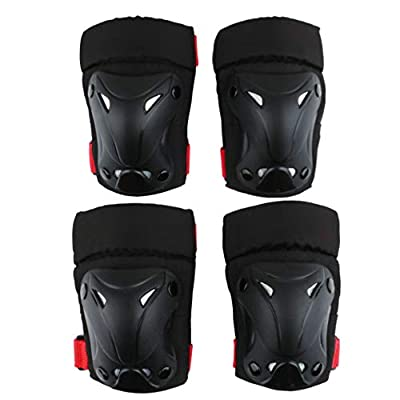 No-branded Protective Gear Sets Outdoor Sports Protective Gear Set Boys Girls Cycling Safety Pads Set and Wrist Guards for Skateboard Bicycle ZRZZUS (Color : Black, Size : S): Home & Kitchen