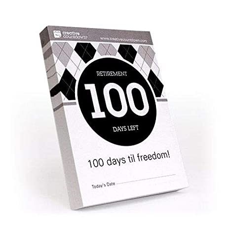image about Retirement Countdown Calendar Printable referred to as 100-working day Countdown toward Retirement Tear Off Calendar