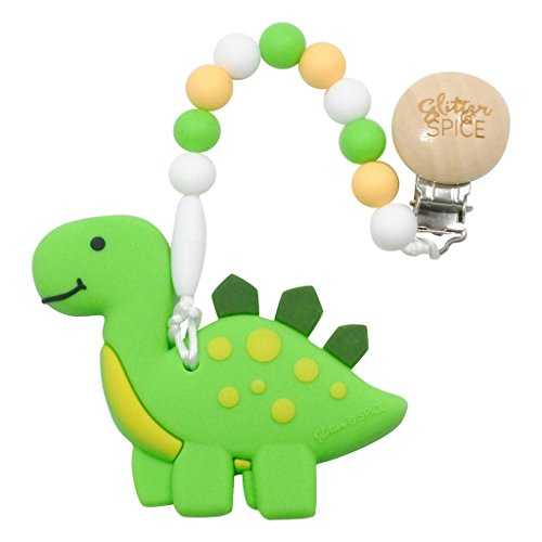 Glitter and Spice Dino Teether