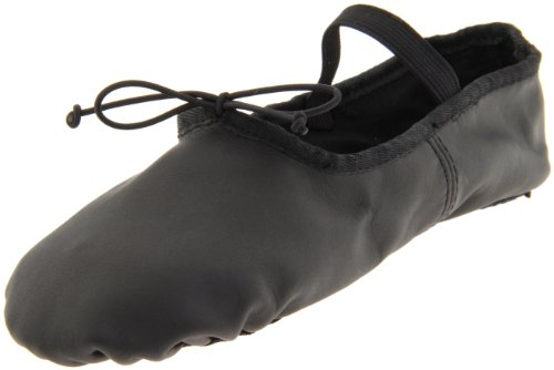 Dance Class Women's B602 Split Sole Leather Ballet Slipper,Black,11.5 M US by Dance Class