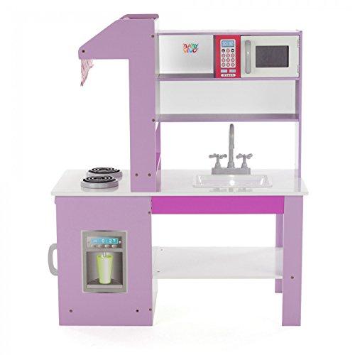 Baby Vivo Cocina de juguete de Madera Rosa Microondas Niños Infantil ...