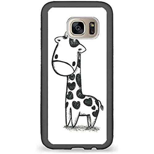 Custom Phone Cases Design for Samsung Galaxy S7 - Cute giraffe Illustration back phone cases Sales