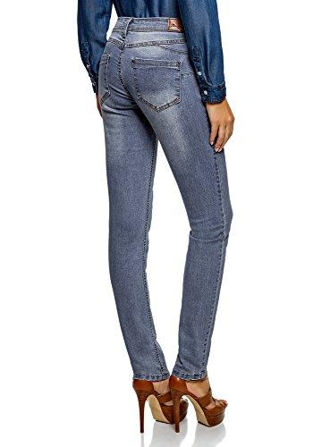 Ultra Skinny Femme Push Bleu Jean 7000w Up Effet oodji qRZgwOZ
