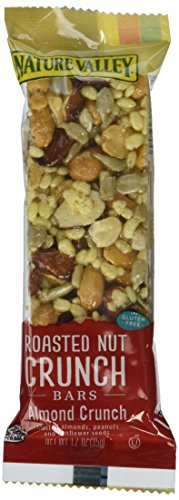 Nature Valley Nut Crunch Bars, Roasted, Almond Crunch, 7.2 oz, (pack of (Nature Valley Roasted Nut)