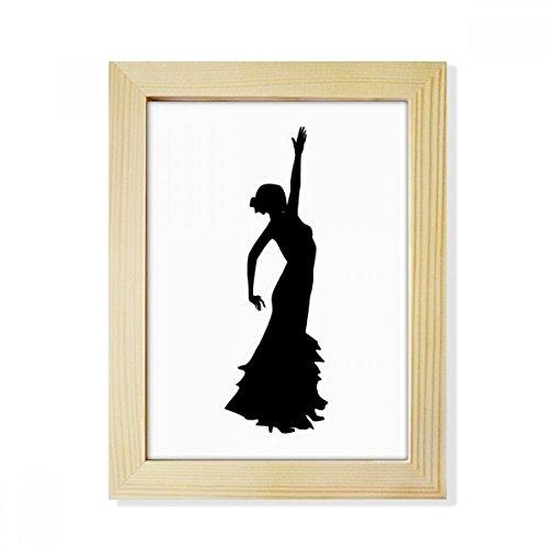 DIYthinker Folk Dance Performance Dancer Desktop Wooden Photo Frame Picture Art Painting 6x8 inch by DIYthinker