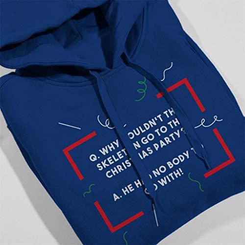 Christmas Sweatshirt Royal Body Joke Women's No Skeleton Blue Hooded Cracker q8qxCrnA