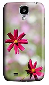 Samsung Galaxy S4 I9500 Hard Case - Red Flowers 1 Galaxy S4 Cases