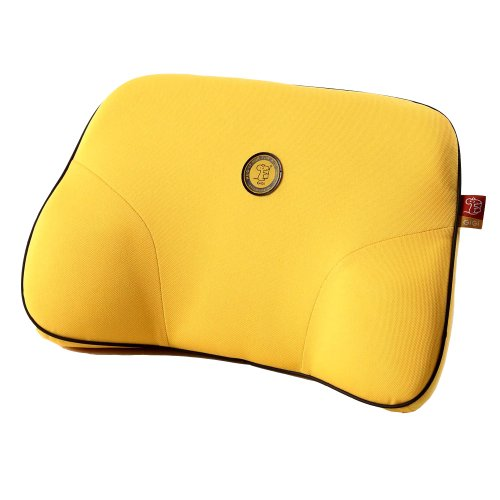 GiGi Steady Memory Foam Lumbar Pad Cushion Mat ,Lumbar Support Cushion Driving Seat For Office ,Car Driving,Rest,Travel ,Relieve Back Pain - Yellow