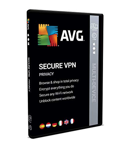 AVG Secure VPN | meerdere apparaten | 10 apparaten | 1 Jaar | Box