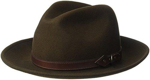 Country Gentleman Men's Dunmore Classic Wool Fedora Hat, ...