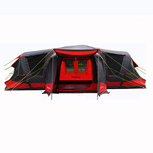 BBX-Group-Tunnel-Inflatable-Tent-with-Sun-Canopy-5000-mm-Water-Column-Festival-Camping-Backpacking-Waterproof-Outdoor-Dome-Tent-8-18-Persons-Windproof-Snow-Shelter