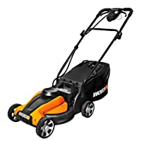 WORX WG775 Lil'Mo 14-Inch 24-Volt Cordless Lawn Mower with Removable Battery and Grass Collection Bag, Battery and Charger Included