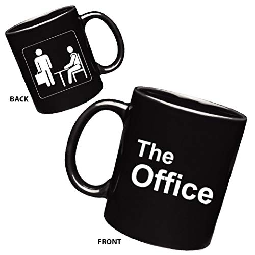 (The Office Mug - Two Sided Sign - Gifts | 11 oz Funny Porcelain Coffee Mug | Gift for Mom, Dad and Friends (Black))