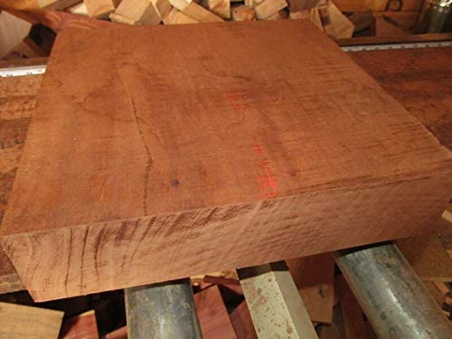 ZCH NIFER Supplies for Large Exotic KILN Dried African Mahogany Platter Blanks Lumber Wood 15 X 15 X 2