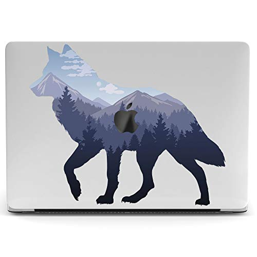 Wonder Wild Mac Retina Cover Case for MacBook Pro 15 inch 12 11 Clear Hard Air 13 Apple 2019 Protective Laptop 2018 2017 2016 2015 Plastic Print Touch Bar Nature Mountain Wolf Animal Abstract Forest]()