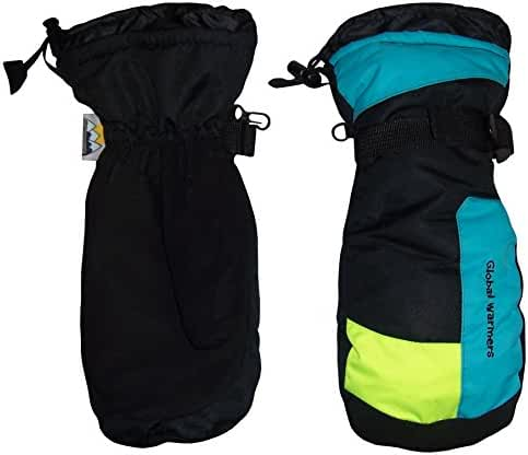 N'Ice Caps Unisex Adults Solid And Colorblocked Puffy Waterproof Ski Mittens