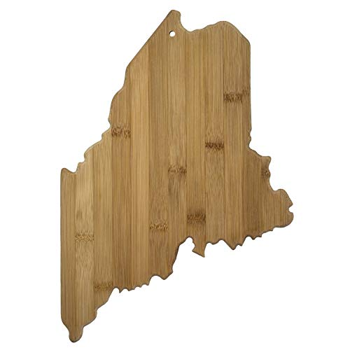 Totally Bamboo 20-7969ME Maine State Shaped Bamboo Serving & Cutting Board
