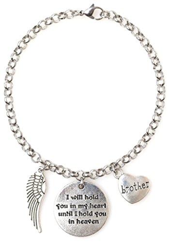 "9b45af487 Adjustable 8.5"" Stainless Steel Bracelet I Will Hold You in My Heart Until  I Hold"
