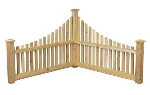 Cedarlooks 0600550 Corner Accent Fence (Cedar Log Accents)