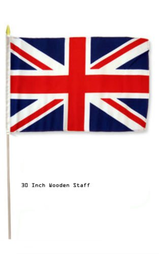 "12x18 12/""x18/"" Wholesale Lot of 3 Sweden Stick Flag wood Staff"