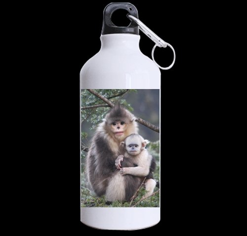 Snub-Nosed Monkey DIY Personalized Custom Sport Water Bottle Travel Cup Design Your Own Nice Gift Art Prints Twin Sides