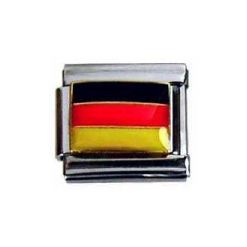 Italian Charms Modul Nationalflagge Deutschland ...by Kult-Schmuck