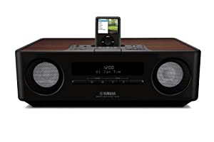 yamaha tsx 120 clock radio with ipod cradle black. Black Bedroom Furniture Sets. Home Design Ideas