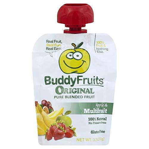 Buddy Fruits Original Blended Fruit Apple & Multifruit, 16 Count Pouches 3.2oz