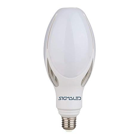 Sigmaled - Bombilla LED ED90, 50 W, E27, 4000 K, luz natural ...
