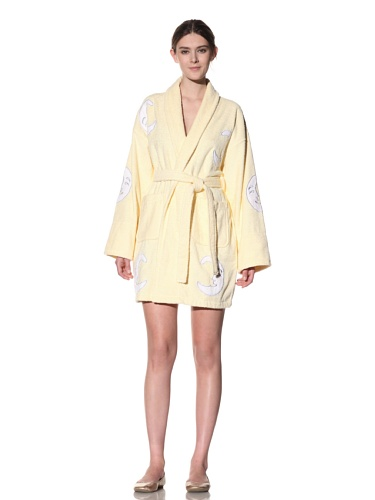 Aegean Apparel Moon Appliqued Bathrobe