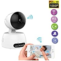 Wireless IP Camera, uniwood HD 1080P WiFi Security Surveillance Baby Monitor Camera Remote Night Vision Pan Tilt Zoom Pet Camera with Motion Detection Two Way Audio Recorders for Mobile Phone and PC