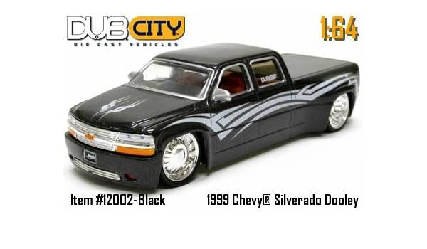 Amazon Dub City 99 Chevy Silverado Dooley Black 98 164 Die Cast Vehicle Toys Games