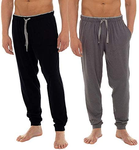 Insignia Pack 2 Hombre Liso Pijama Pantalones de Descanso Pantalones Suéter Suave: Amazon.es: Ropa y accesorios