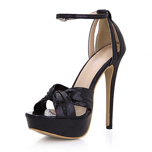und Neue red Frauen Sandalen Temperament Schuhe Weibliche bewährte Burst wasserdicht heel high Black tattoo Schuhe wwtFZCq